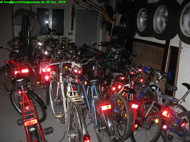 Good we had a twin garage we could use for overnight storage of the donated bikes